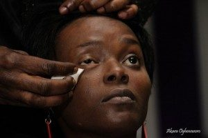 Demonstration of Skin Camouflage by makeup artist – Bayo Haastrup (2010).